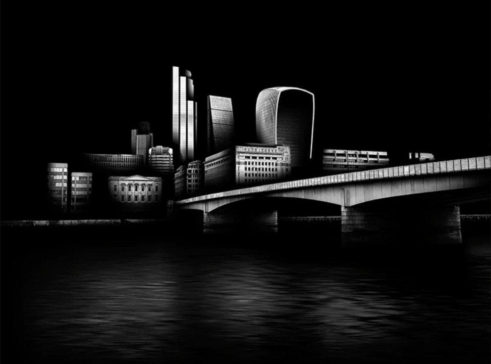 """Nombre: Banco. Autor: Jonathan Walland. Descripción: """"Uso el minimalismo como método para alcanzar la claridad. Mis obras eliminan las distracciones, consevando la vista y el foco en los elementos puros de la fotografía, formas, luces, texturas y la manera que esos componentes se amalgaman"""", explicó Walland."""