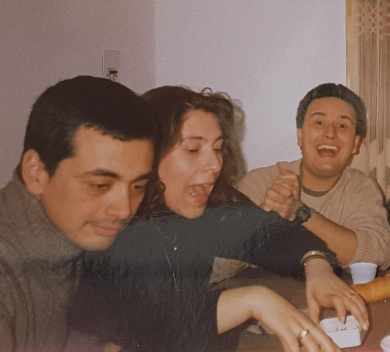 """José """"Pepe""""Reyna, Marcela Canducci y Gabriel Saint Genez. Años 90 en la Power"""