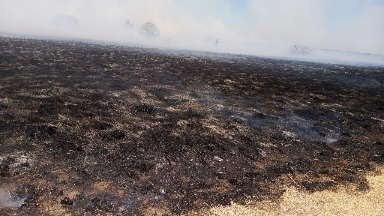 El incendio desde el Aeródromo de La Cumbre - Foto: Bruno Suárez