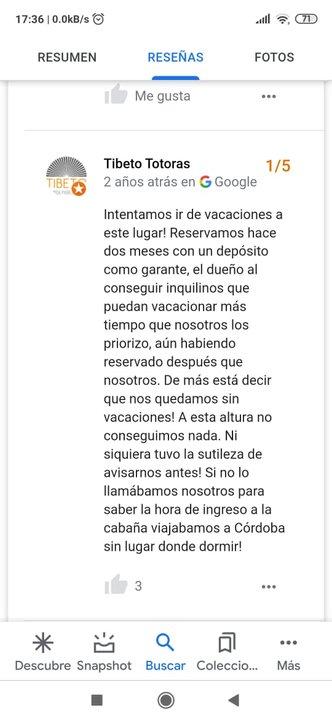 Chat de turistas estafados